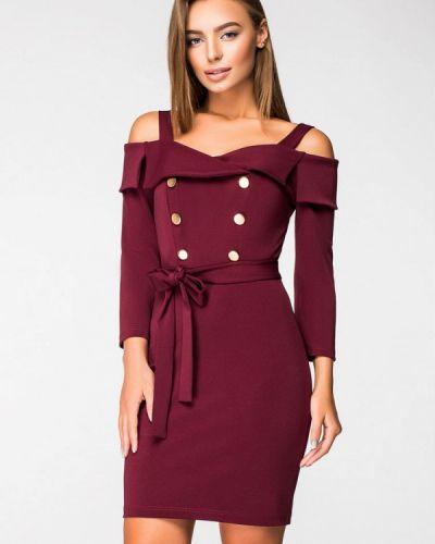 Вечернее платье осеннее красный Itelle