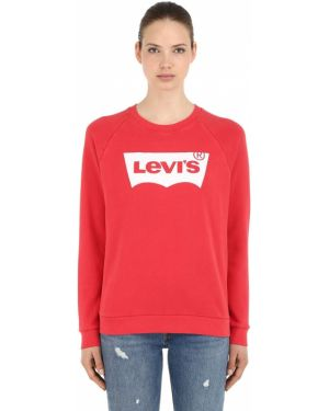 Prążkowana bluza bawełniana vintage Levi's Red Tab