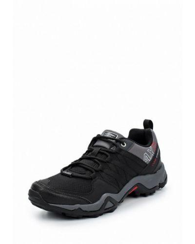 Черные кожаные кроссовки Strobbs