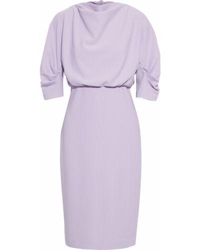 Фиолетовое платье на крючках с подкладкой Badgley Mischka