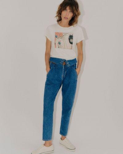 Niebieski jeansy z kieszeniami Re/done