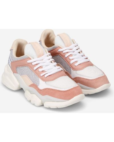 Повседневные розовые кроссовки со вставками Marc O`polo
