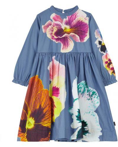 Платье макси длинное - синее Molo