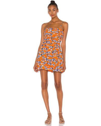 Шелковое платье - желтое Parker