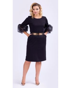 Вечернее платье мини с поясом тм леди агата
