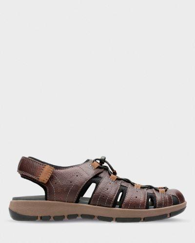 Открытые повседневные текстильные сандалии Clarks