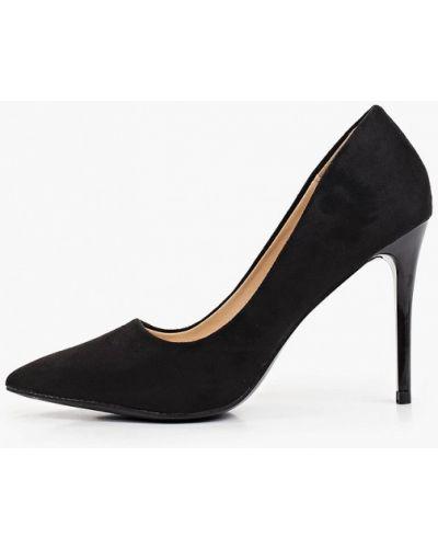 Текстильные черные туфли-лодочки Go-go