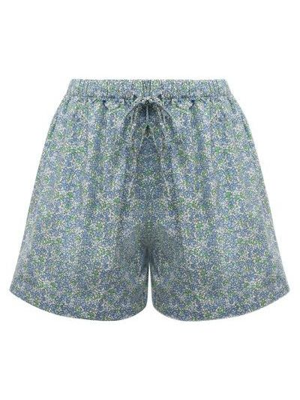 Хлопковые шорты - голубые Faithfull The Brand