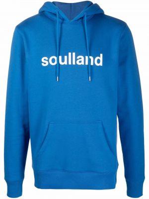 Niebieska bluza z kapturem Soulland