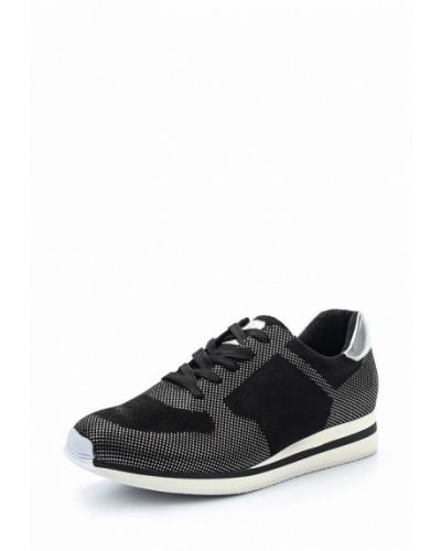 Черные кроссовки замшевые Keddo