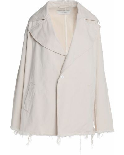 Ватная белая джинсовая куртка с карманами Marques Almeida