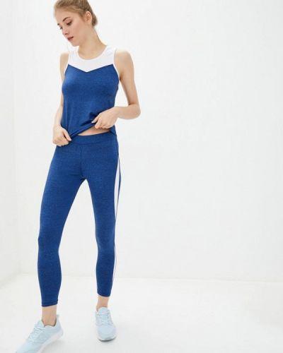 Костюмный синий спортивный костюм для фитнеса Go Fitness