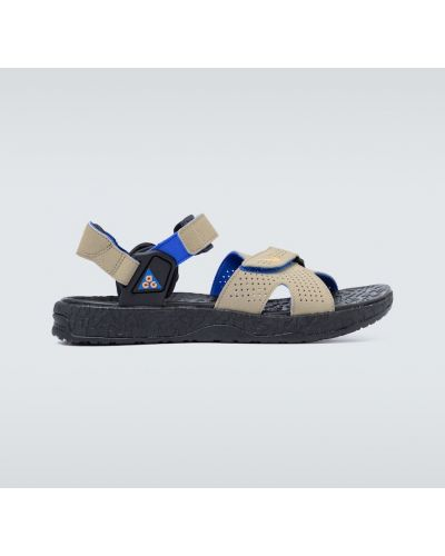 Текстильные оранжевые с ремешком сандалии Nike