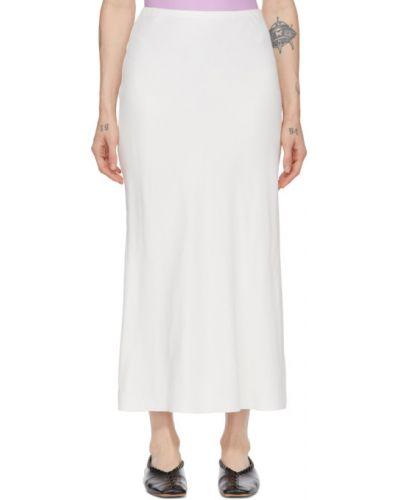 Бежевая ажурная юбка макси из вискозы Studio Nicholson