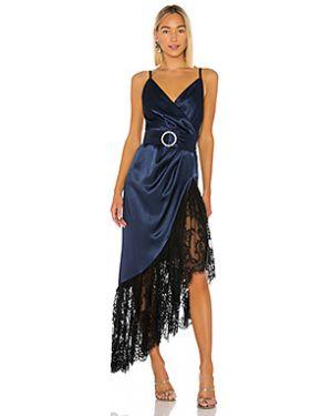 Вечернее платье на бретелях с поясом Bronx And Banco