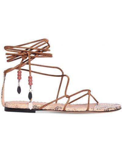 Сандалии на шнуровке на каблуке Isabel Marant