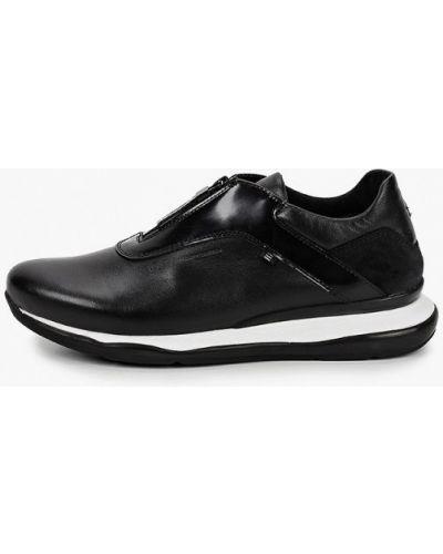 Кожаные черные кроссовки Hcs
