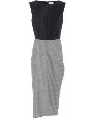 Шерстяное домашнее платье мини без рукавов Alexander Mcqueen