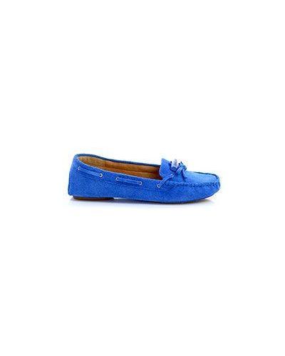 Синие мокасины замшевые Armani Jeans