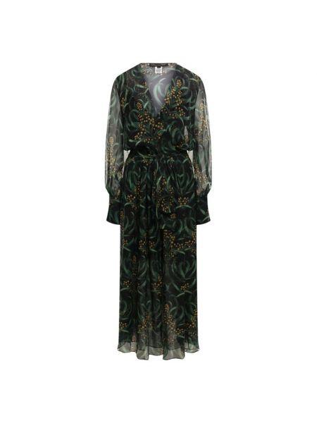 Платье миди с запахом с цветочным принтом Oscar De La Renta