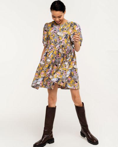 С завышенной талией платье с вырезом на пуговицах Befree