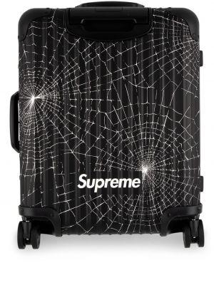 Czarna walizka skórzana Supreme