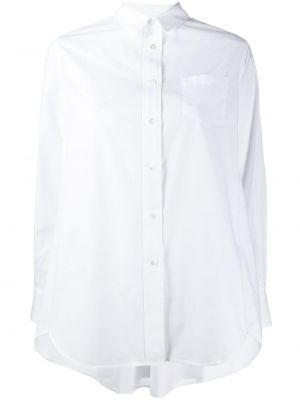 Хлопковая с рукавами белая классическая рубашка Sacai