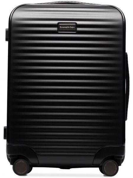 Włókienniczy czarny walizka Ermenegildo Zegna