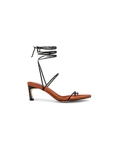Замшевые черные сандалии с запахом Reike Nen
