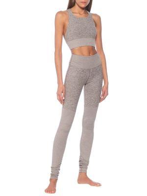 Beżowy legginsy na jogę Alo Yoga