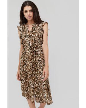 Платье миди с вырезом эластичное Cardo