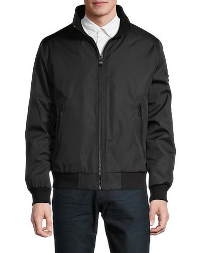 Черная куртка на молнии с подкладкой Calvin Klein