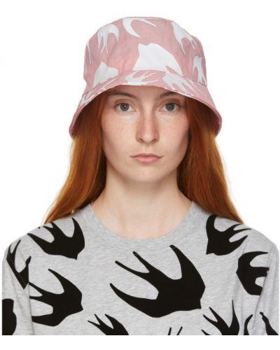 Różowy kapelusz z nylonu Mcq Alexander Mcqueen