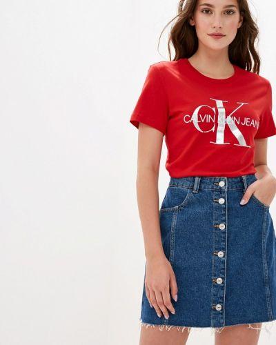 Футболка красный Calvin Klein Jeans