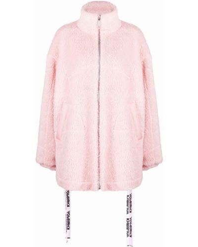 Пальто оверсайз - розовое Khrisjoy