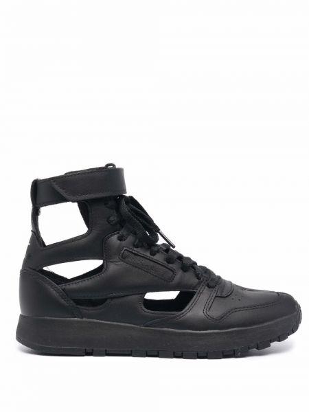 Черные кроссовки на шнуровке Maison Margiela X Reebok