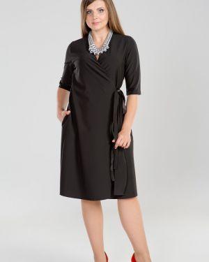 Платье с поясом с запахом платье-сарафан прима линия