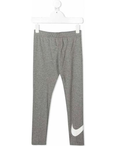 Прямые серые спортивные брюки с поясом Nike Kids