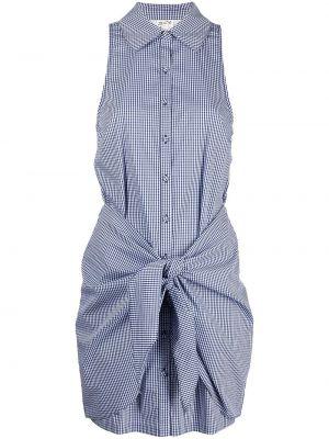 Синее платье без рукавов с воротником Cinq À Sept