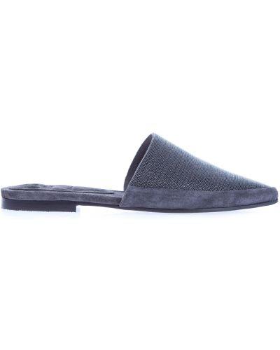 Мюли на каблуке кожаные Brunello Cucinelli