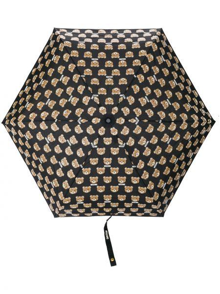 Z paskiem czarny parasol Moschino