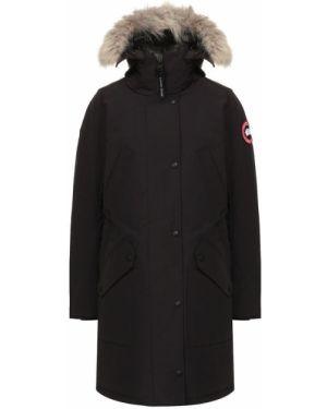 Куртка с капюшоном нейлоновая с перьями Canada Goose