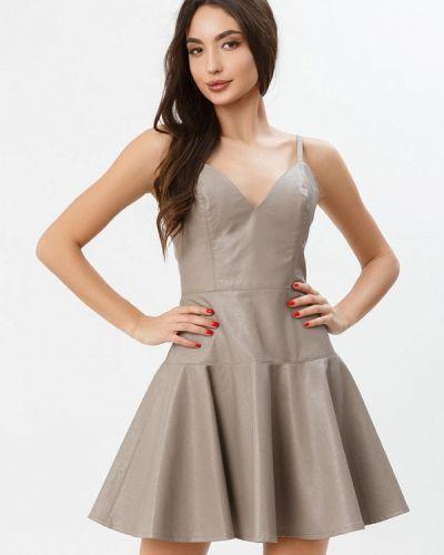 Платье кожаное весеннее Gepur