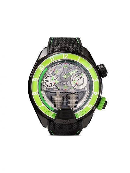 Zielony zegarek mechaniczny srebrny szafir Hyt