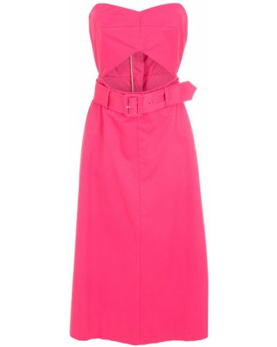 Розовое платье с вырезом НК