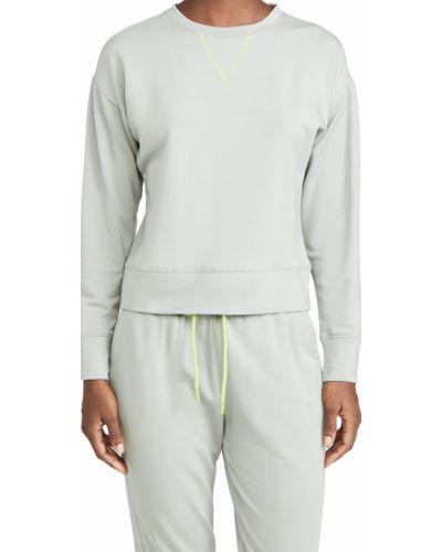 Трикотажный серый свитшот с длинными рукавами Terez