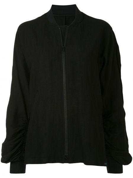 Черная куртка на молнии с манжетами Yohji Yamamoto