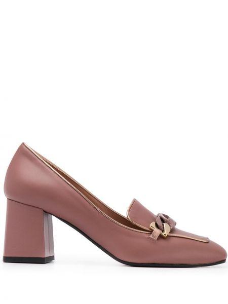 Туфли на каблуке - розовые Pollini