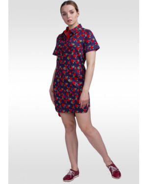 Джинсовое платье со вставками платье-сарафан Lila Classic Style