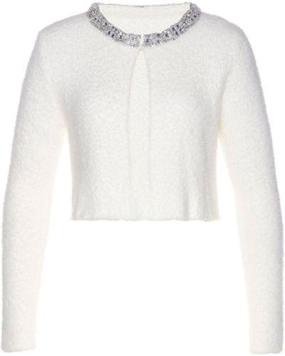 Шерстяной вязаный пиджак с пайетками Bonprix